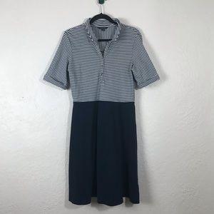 Lands' End Nautical Striped A-Line Dress